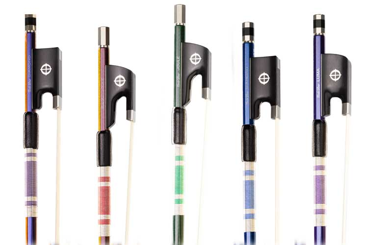 CodaBow Chroma bow handles in different colors