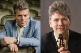Violinists Barnabás Kelemen and Nicholas Kitchen