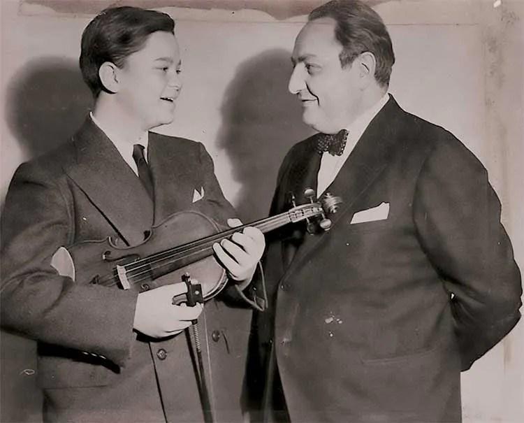Kenneth Gordon with his teacher Mishel Piastro