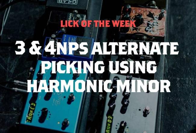Alternate Picking Lick in The Key of B Harmonic Minor