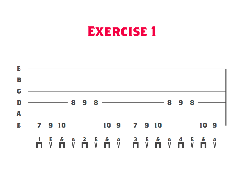 tablature for string skipping lesson showing the string skipping basics