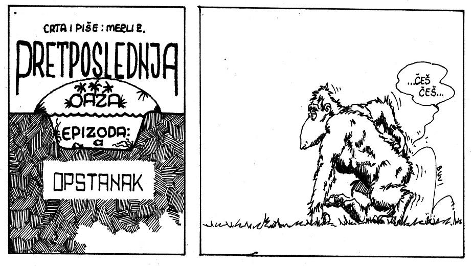 "Strip ""Pretposlednja oaza"": Epizoda ""Opstanak"" autora Zoltana Merlia strip blog"
