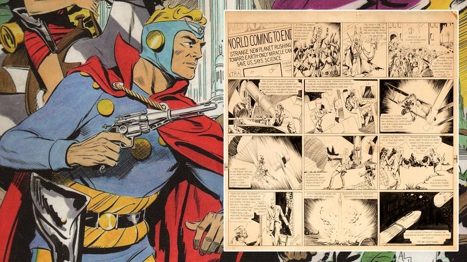 Prva tabla iz Flaš Gordona Aleksa Rejmonda se prodaje na aukciji strip blog