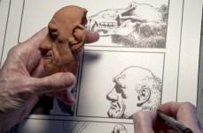 Richard Corben n'hésite pas a réaliser des modèles 3D de ses personnages afin de les reproduire le plus fidèlement possible.