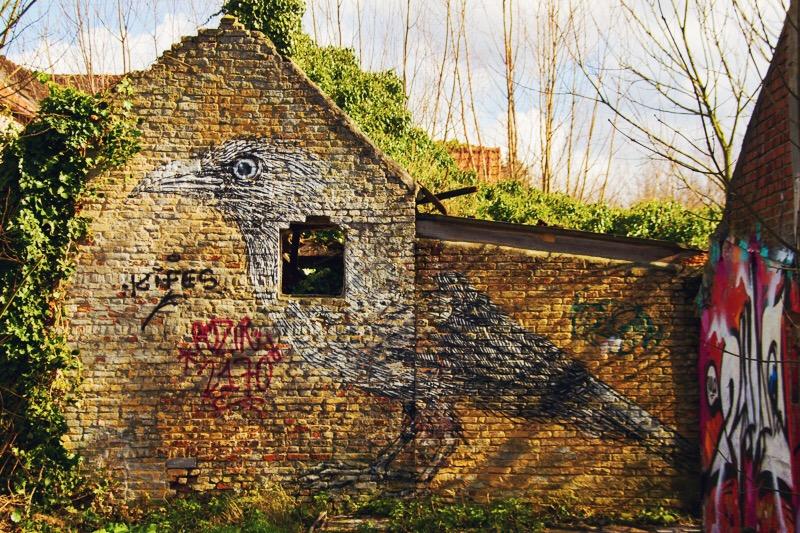 Spookstad Doel in Belgie