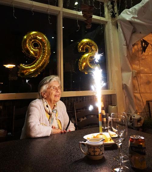 Oma 92 jaar geworden