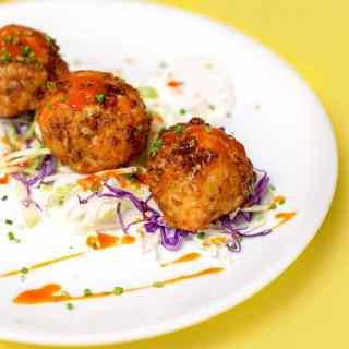 evan blomgren buffalo chicken meatballs recipe