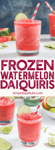 frozen watermelon daiquiri recipe pin