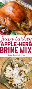 apple herb turkey brine mix for thanksgiving