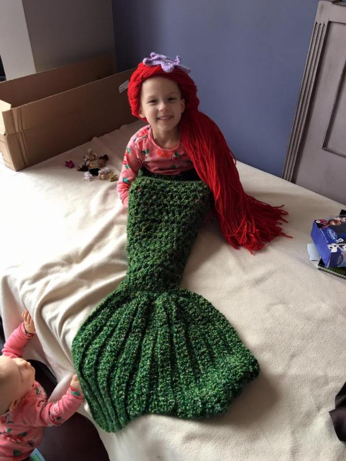 Monroe the mermaid
