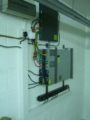 Wall mounted DL360 and Cisco Switch