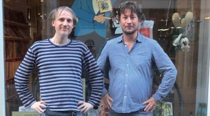 Kjell Knudde (links) en Bas Schuddeboom, de drijvende krachten achter Comiclopedia. Foto: Het Stripschap