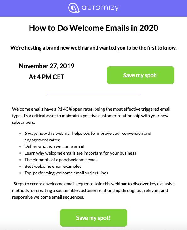 webinar e mail einladungen stripo email