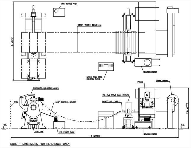 4 In 1 Coil Processing Unit, Pneumatic Feeder, Air Feeder