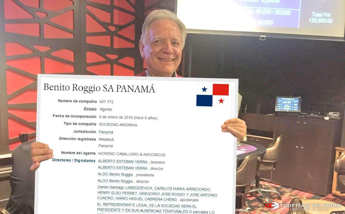 EL EMPRESARIO ALDO ROGGIO TIENE CUATRO EMPRESAS OFFSHORE EN PANAMÁ