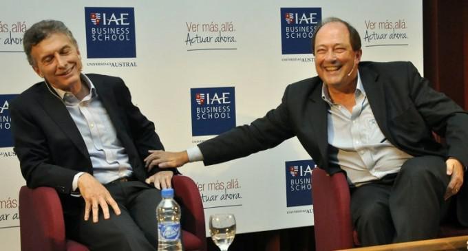 El presidente Macri, con Ernesto Sanz, hombre de Techint en el gobierno de Cambiemos.