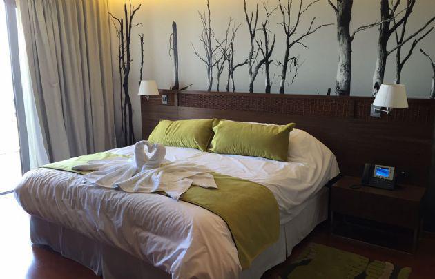 Habitación del hotel Ansenuza que costó 11 millones de pesos.