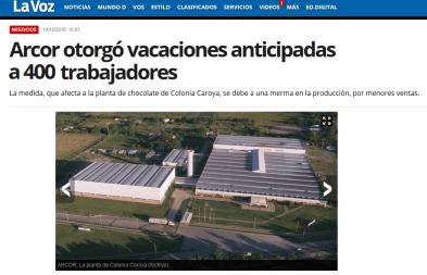 Los negocios offshore de ARCOR