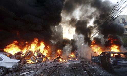 Car bomb explosion in Haret Hreik, southern Beirut