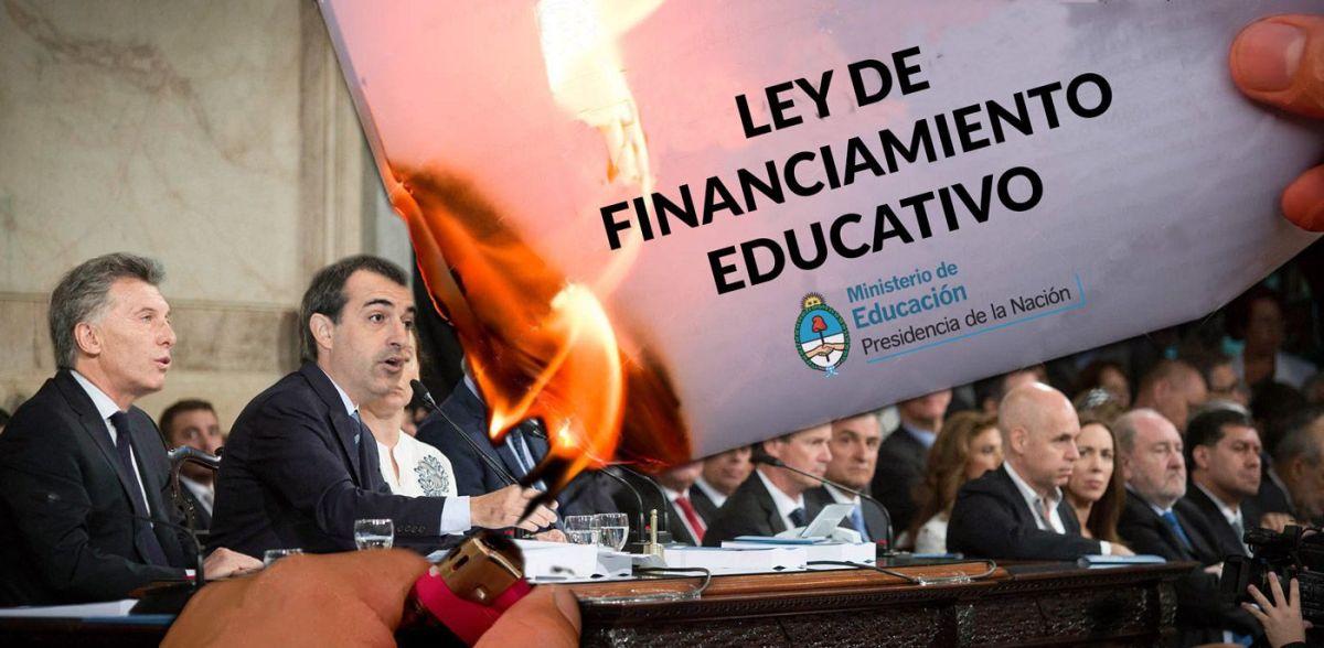 """CONFLICTO DOCENTE: El """"Plan Maestr@"""" de Macri para legalizar el incumplimiento de la Ley de Financiamiento Educativo"""