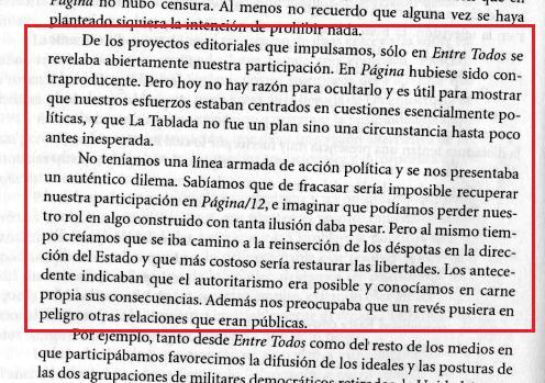 Lanata, Gorriarán Merlo, MTP, Página 12, José Alfredo Martínez de Hoz, ERP, Clarin, acopamiento del cuartel de La Tablada
