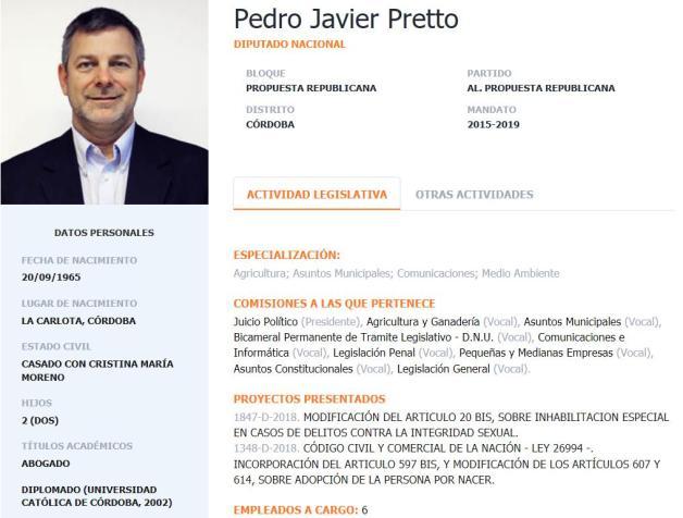 Javier Pretto, Aníbal Fernández, José López, Carlos Kirchner, De Vido, PRO, Comisión de Juicio Político, Marcelo Mindlin, Nicolás Caputo