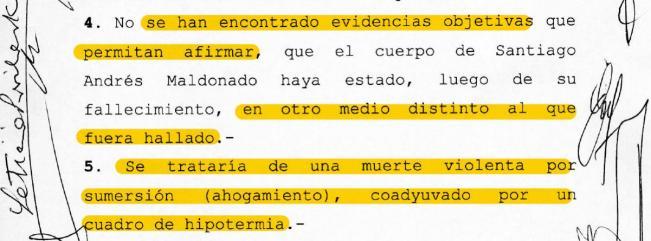 Echazú, Maldonado, Otranto, Patricia Bullrich, Héctor Magnetto, Vidal, Gendarmería, Desaparición, Macri, RAM, autopsia, RCP, Reanimación cardiopulmonar