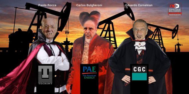 Rocca, Gas Natural, lobista Petroleo Eurnekian, Bulgheroni, Tecpetrol, Rocca Techint, CGC del grupo Eurnekian, burguesía nacionaly PAE