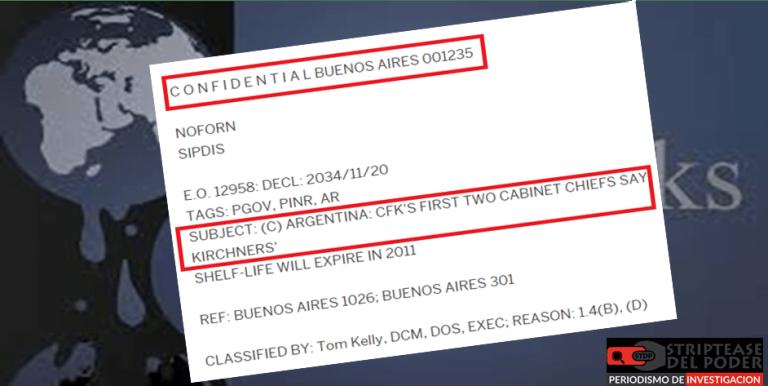 Wikileaks, Fernández, Massa, Kirchner, CFK