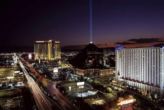 Vue sur le Strip Las Vegas