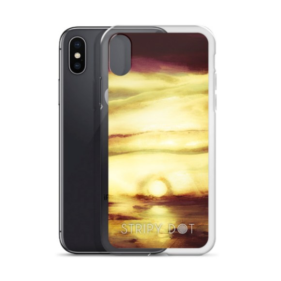 image of moonset glow iPhone case