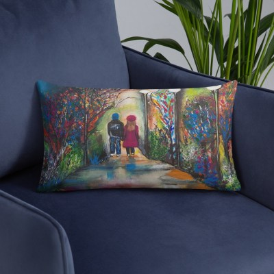 Image of Open Hearts - Luxury Pillow by Deborah Kala