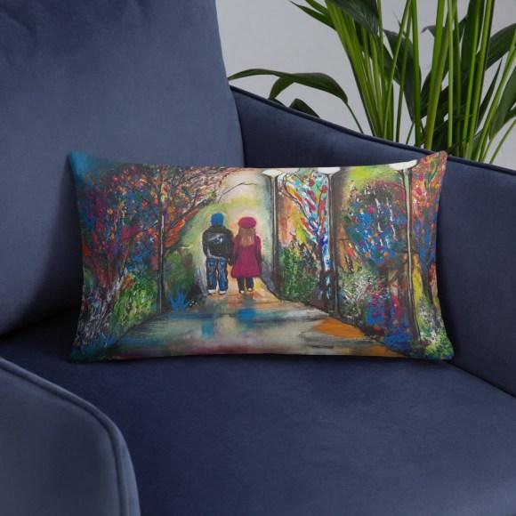 Image of Natures Walk - Luxury Pillow by Deborah Kalavrezou