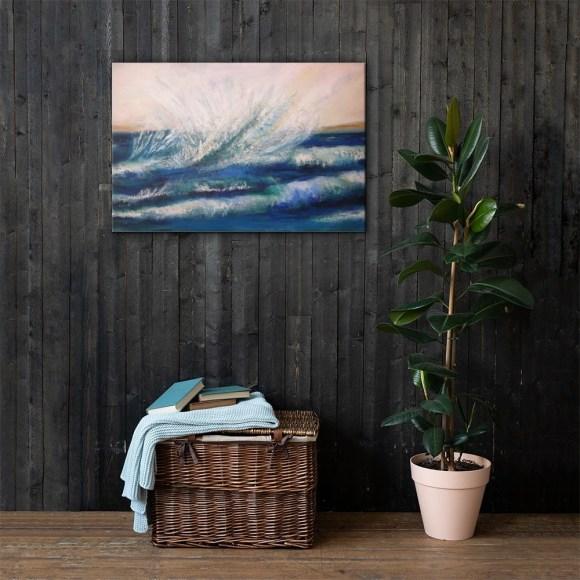 Image of Splash! - Canvas in sauna