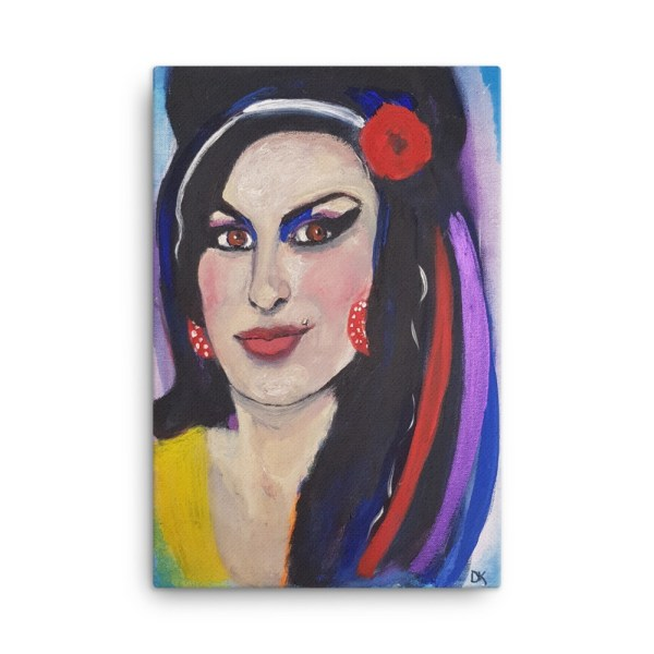 Image of Amy Whinehouse 24 x 36 Canvas By Deborah Kala
