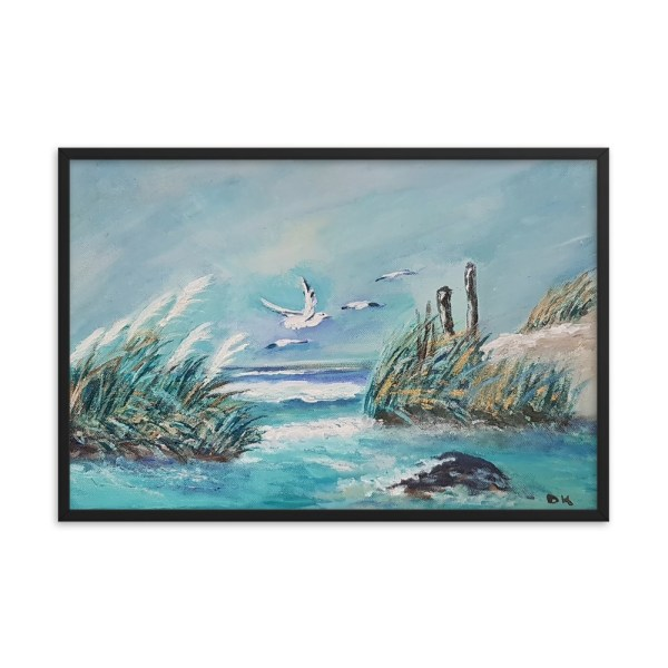 Image of MomentInTime - 24 x 36 (in) Framed Poster - From our original collection by artist Deborah Kala.