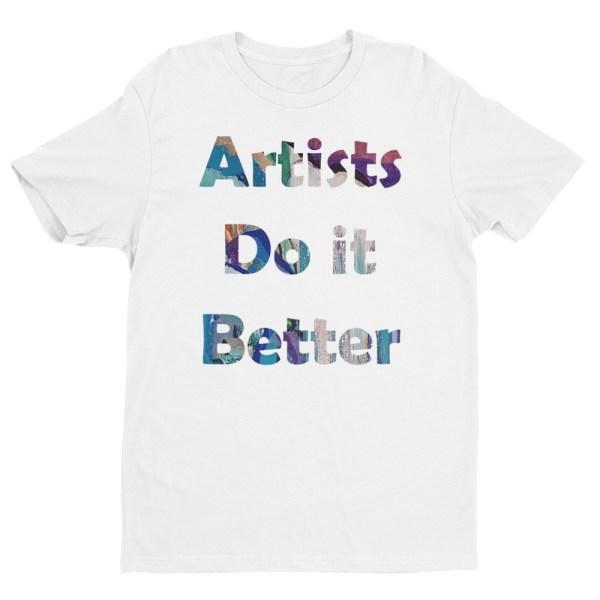 Image of ArtistsDoItBetter - Next Level Premium Short Sleeve Crew - StripyDot