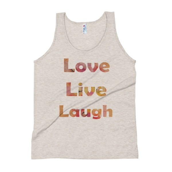 Image of LoveLiveLaughwhite - Apparel Unisex Tank Top
