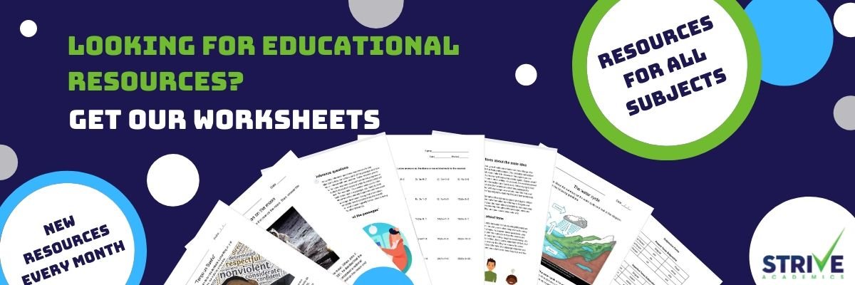 Strive Academics Worksheets Main Banner(1)
