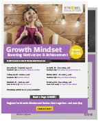 Growth Mindset Flyer - Online Course from Strobel Education