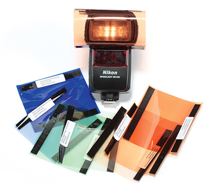 how to use flash gels to balance light