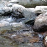Cold River - Water flowing over rocks in the river