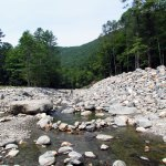 Scenic Cold River on the Mohawk Trail