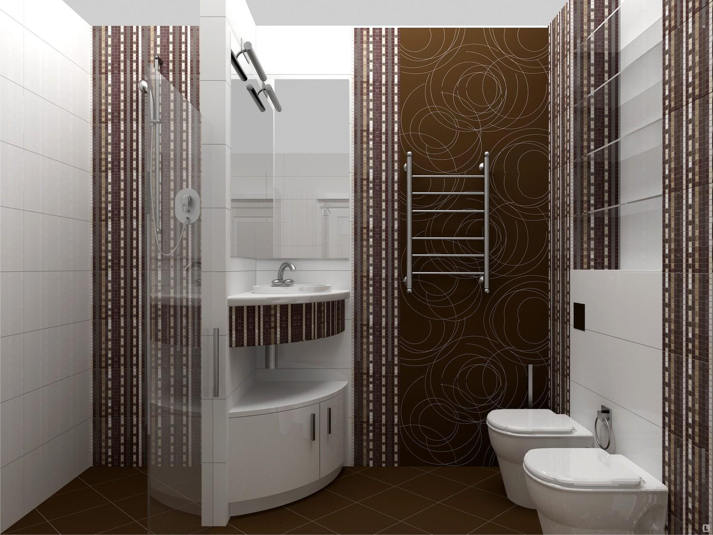 дизайн ванной комнаты с мозаикой и плиткой фото 6