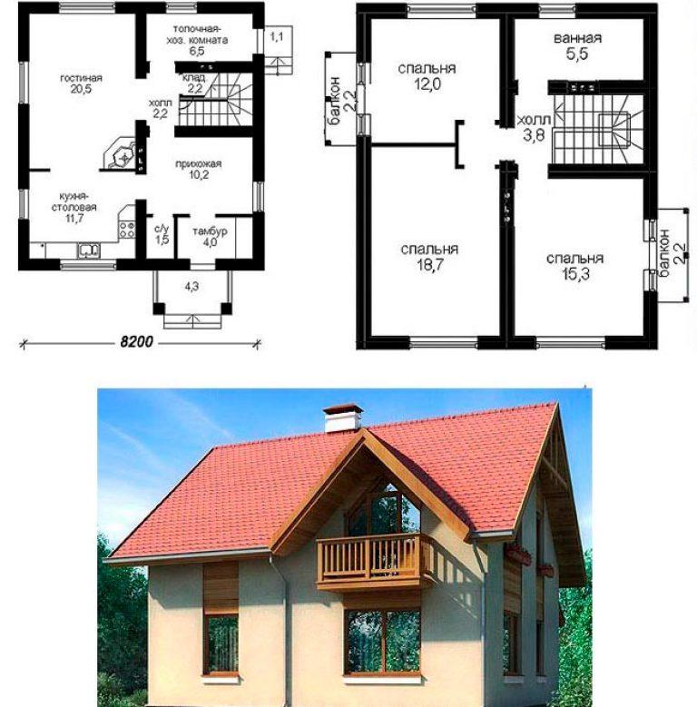 проекты одноэтажных домов из пеноблоков до 150