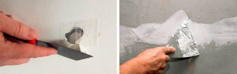 чем лучше заделать дыры в бетонной стене