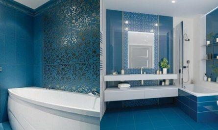 Синяя ванная комната дизайн
