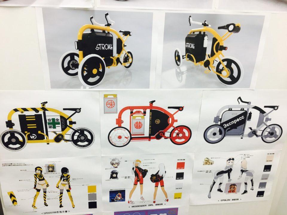 STROKEカーゴトライク(3輪カーゴバイク)ミニチュアモデル製作12