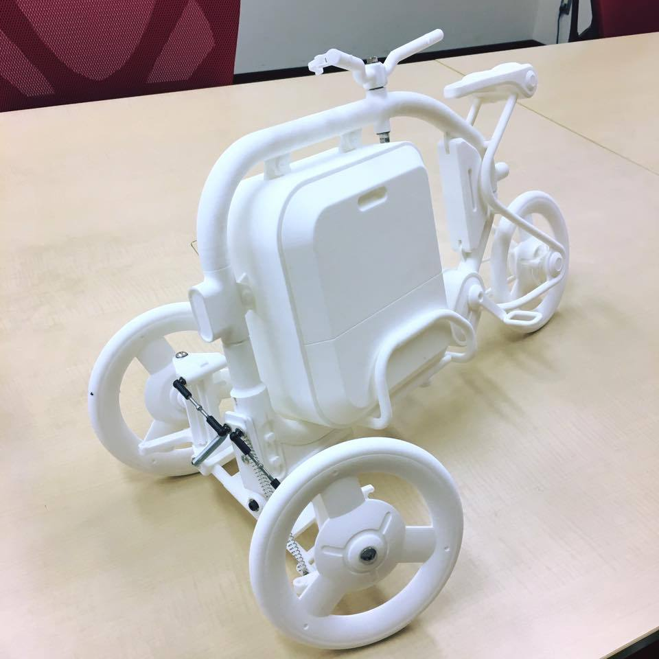 STROKEカーゴトライク(3輪カーゴバイク)の1/3スケールのミニチュアモデル03