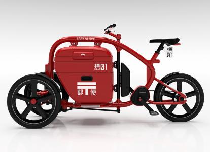 STROKEカーゴトライク(3輪カーゴバイク)郵便局仕様